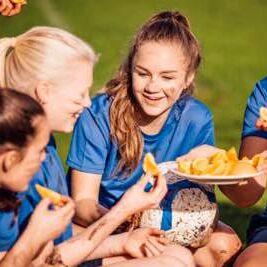 Sports nutrition eating oranges image